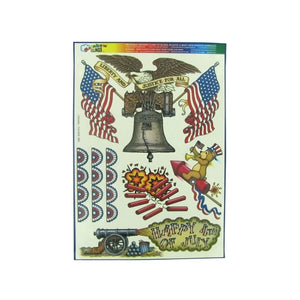 Liberty And Justice Window Clings - Pack of 30