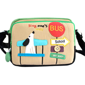 [Sing My Way] Embroidered Applique Swingpack Bag Purse / Wallet Bag / Shoulder Bag (7.1x5.3x3.7)