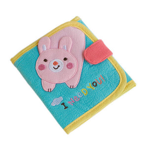 [I Need You] Embroidered Applique Fabric Art Trifold Wallet Purse / Card Holder (4.7x4.3)