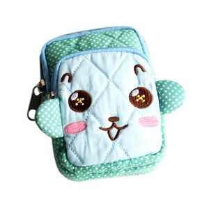 [Smart Monkey] Embroidered Applique Fabric Art Wallet Purse/ Pouch Bag (2.9x4.7x0.98 inches)