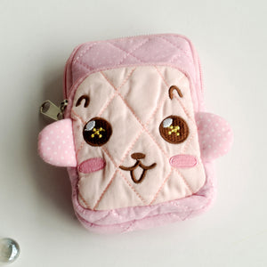 [Brave Monkey] Embroidered Applique Fabric Art Wallet Purse/ Pouch Bag (2.9x4.7x0.98 inches)
