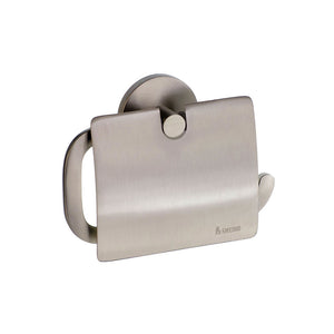 Smedbo SME, Brushed Nickel L3414N Toilet Roll Euro Holder with Lid