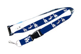 LOS Angeles Dodgers Reversible Clip Lanyard Keychain Id Ticket Holder - MLB