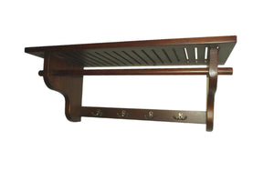 D-Art Wall Hanger (Hat Rack/Coat Rack) in Solid Mahogany Wood