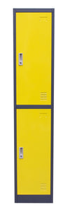 2-Door Metal Storage Locker Cabinet with Key Lock Entry