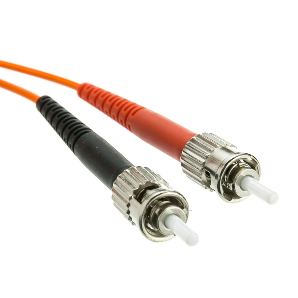 LC/ST OM1 Multimode Duplex Fiber Optic Cable, 62.5/125, 30 meter (100 foot)