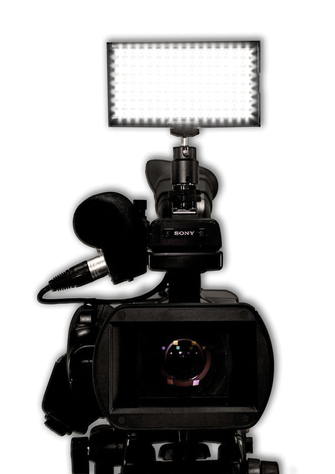 Microbeam 128: Sony NP Battery Mount, Daylight (5600K), Spot (30 Degrees), Black Chassis