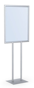 "Testrite Visual Office Tradeshow Display LF228-S Poster Signholder 22""x28"" Silver"