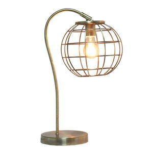 Lalia Home Arched Metal Cage Table Lamp, Rose Gold