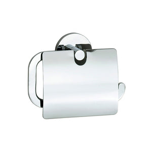 Smedbo SME, Polished Chrome LK3414 Toilet Roll Euro Holder with Lid