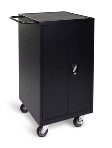 Luxor Black 18 Laptop Computer Charging Cart