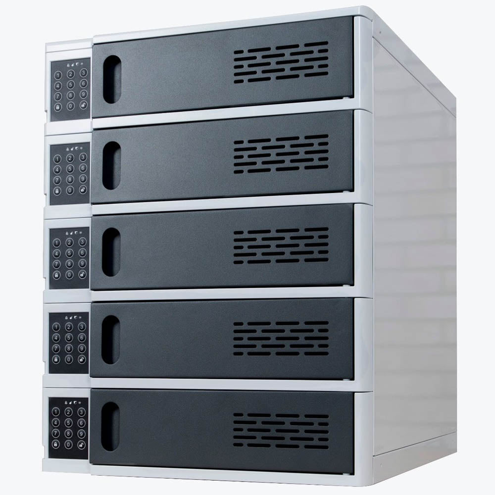5-Bay Charging Locker for Mobile Devices