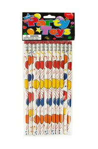Balloons Party Favor Pencils - 24 Pack
