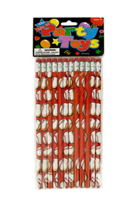 Baseball Party Favor Pencils - 24 Pack