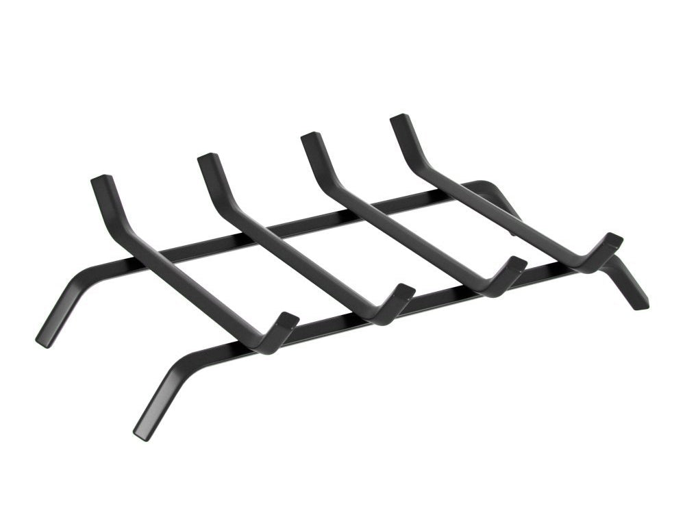 Black Wrought Iron Fireplace Log Grate 18