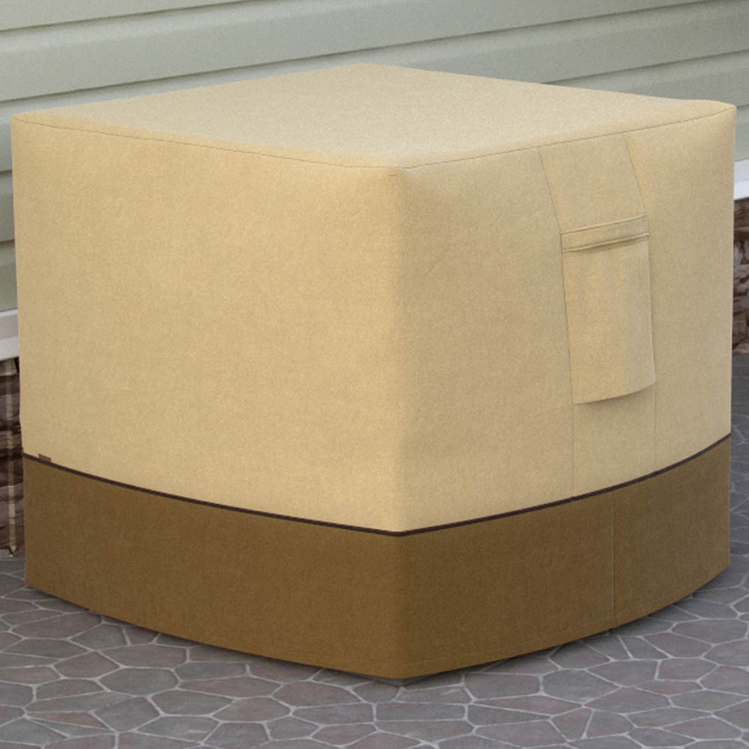 Dura Covers Fade Proof Air Conditioner or LP Propane Gas Outdoor Fire Bowl Fire Pit Table Cover, Square