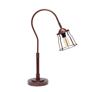 Elegant Designs Red Bronze Open Cage Table Lamp