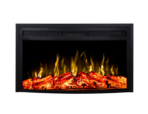 Gibson Living 23 Inch Curved Ventless Heater Electric Fireplace Insert