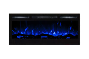 Gibson Living Madison 36 Inch Logs Recessed Wall Mounted Electric Fireplace