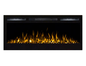 Gibson Living GL2036WS Madison 36 Inch Pebbles Recessed Wall Mounted Electric Fireplace