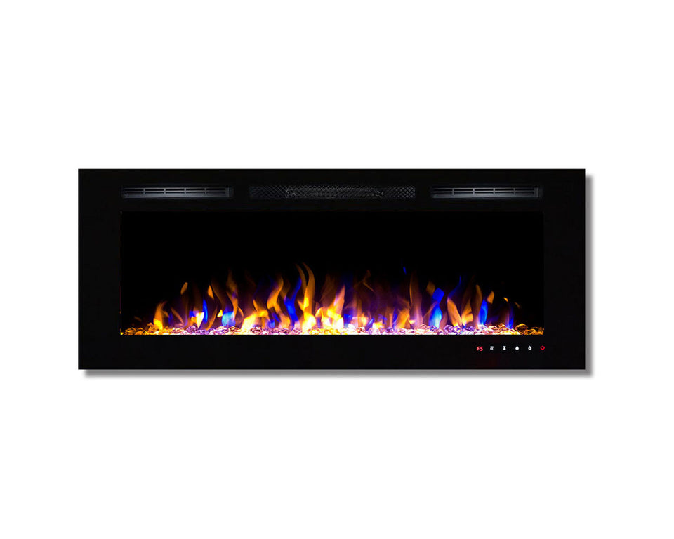 Regal Flame Fusion 50Ó Multi-Color Built-in Ventless Recessed Wall Mounted Electric Fireplace Better Than Wood Fireplaces, Gas Logs, Inserts, Log Sets, Gas, Space Heaters, Propane