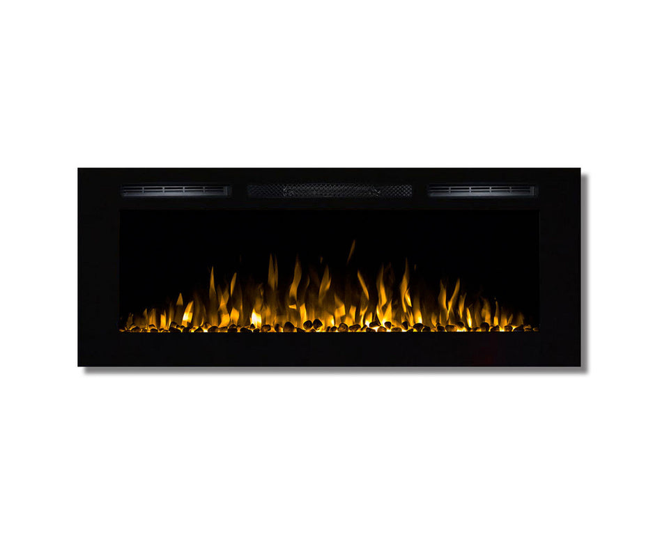 Regal Flame Fusion 50Ó Pebble Built-in Ventless Recessed Wall Mounted Electric Fireplace Better Than Wood Fireplaces, Gas Logs, Inserts, Log Sets, Gas, Space Heaters, Propane