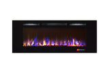 "Gibson Living Room Decor Bombay 60"" Crystal Recessed Touch Screen Multi-Color Wall Mounted Electric Fireplace"