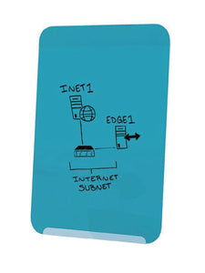 "Ghent Link Board Magnetic Whiteboard, 24""H x 18""W, Soft Blue Base"