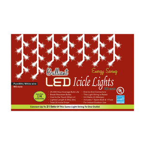 Golden Bay Enterprises Party Decoration Holiday Lights 100L C3 Icicle