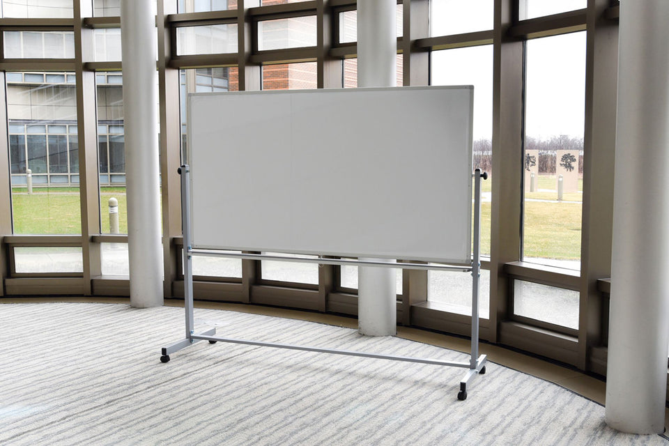 "Luxor 72""W x 48""H Double-Sided Magnetic Whiteboard"