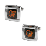 MLB Baltimore Orioles Square Cufflinks with Square Shape Logo Design Gift Box Set