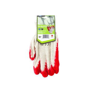 Koleimports Large Red Latex Palm Coated Lightweight Liner Gloves 24 Pack