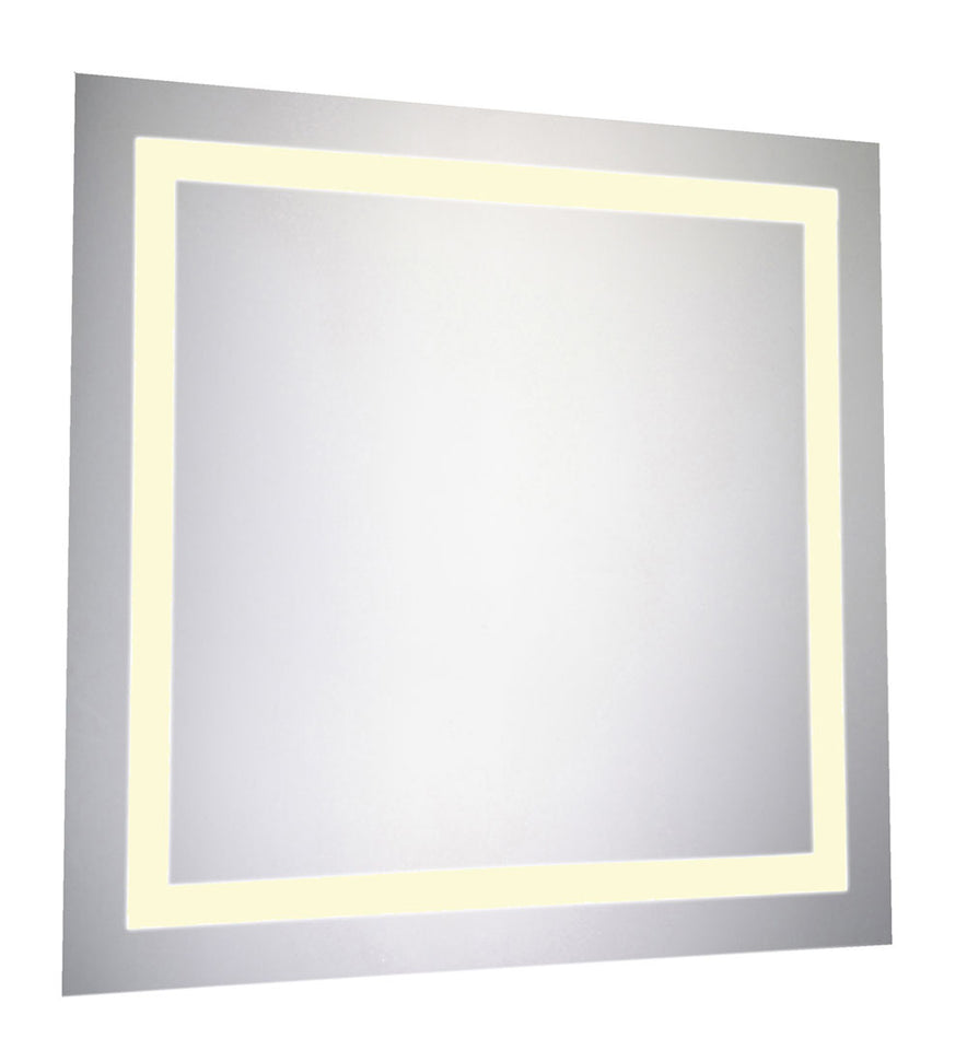 Elegant Decor LED Hardwired Mirror Square W28 H28 Dimmable 3000K (MRE-6020)