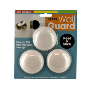Bulk Buys Self-Adhesive Doorknob Wall Guard Set - 24 Pack