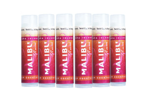Spa Island SPF15 Sun Protection Malibu Pomegranate Lip Balm - 6 pack