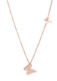 J Goodin Women Fashion Jewelry Beatrice Rose Gold Stainless Steel Delicate Butterfly Necklace