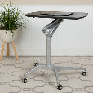 "Mobile Sit-Down, Stand-Up Computer Ergonomic Desk with 28.25""W Top (Adjustable Range 29"" - 41"")"