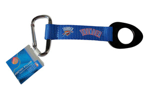 Oklahoma city thunder Bottle Holder Carabiner Strap Tag NBA Lanyard Keychain Clip