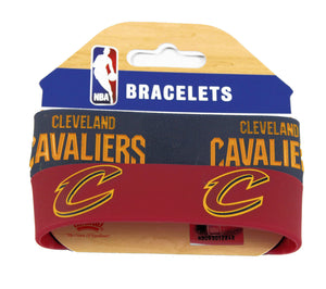 NBA Cleveland Cavaliers Sports Team Logo Rubber Wristband Bracelets Set of 2