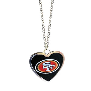 NFL Heart Shaped Pendant Necklace San Francisco 49ers