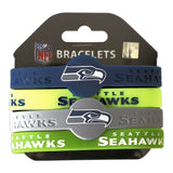 aminco NFL Seattle Seahawks Silicone Bracelets, 4-Pack