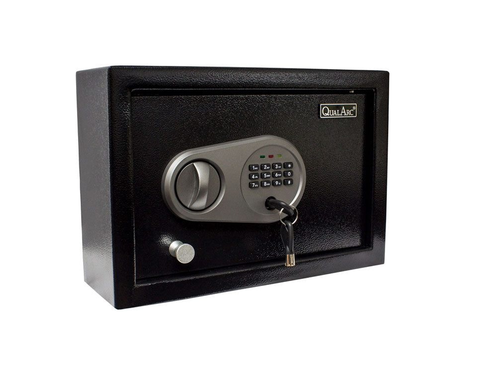 Qualarc NOCH-11EL Solid Steel Drawer or Wall Safe Keypad Lock for Handguns, Electronics and Valuables