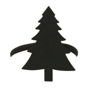 Village Wrought Iron NR-42 Pine Tree Napkin Ring - Black