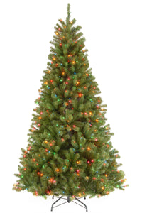 9 ft. North Valley Spruce Tree with Multicolor Lights
