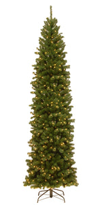 9 ft. North Valley Spruce Pencil Slim Tree with Clear Lights