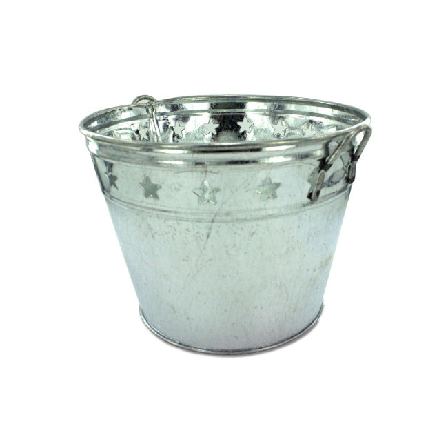 Tin Bucket With Stars - Pack of 12