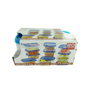 Bulk Buys 20 Piece Plastic Food Storage Container Set Pack Of 1