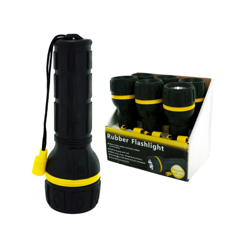 Rubber Flashlight Counter Top Display - Case of 6