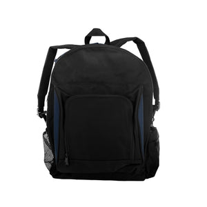 Black And Navy Canvas Backpack - Pack of 1