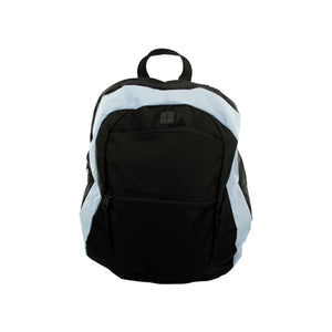 Light Blue And Black Canvas Backpack - Pack of 1